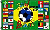2014 WORLD CUP Soccer Groups FLAG, 3x5 banner