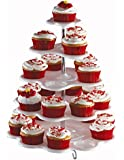 White Cupcake Holder Stand - Holds 27 cupcakes
