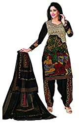 CHINTAN TEXTILES Ethnicwear Women's Dress Material (Multi-Coloured_Free Size)
