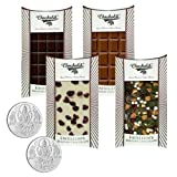 Chocholik Belgium Chocolate Gifts - Classic Collection Of Assorted Belgian Chocolate Bars With 5gm X 2 Pure Silver...