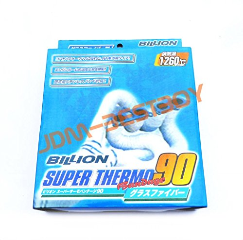 JDM Japan Billion Super Thermo 90 Bandage Wrap Thermal 1260C Fiberglass Insulating Heat Exhaust Turbo Header Manifold