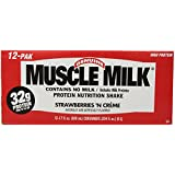 Top CytoSport Muscle Milk 500 ml Strawberry Ready-to-Drink Protein Shakes - 12 x Cartons -image