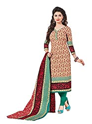 Taos Brand cotton dress materials for women womens dress materials cotton salwar suit New Arrival latest 2016 womens party wear Unstitched dress materials for women (1419 summer__brown and maroon_freesize