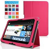MoKo Slim Folding Cover Case For Google Nexus 10 Android Tablet By Samsung MAGENTA (with Flip Stand Integrated...