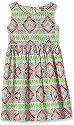 People Girls' Dress (P30602066437400_Multicolor _5-6 Yrs)