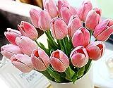 Yidarton Qualität PU Real Touch Kunstblumen Artificial Tulip Tulpe Flower