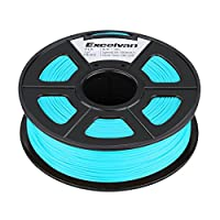 Excelvan 1.75mm PLA 3D Printer Filament - 1kg Spool (2.2 lbs) - Dimensional Accuracy +/- 0.02mm - Multi Colors Available (Cyan) by Excelvan