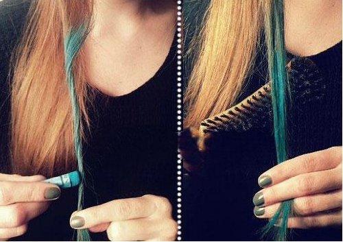 24色 【カラーリング 手袋6枚付き】 ヘアチョーク ヘアカラーチョーク お湯で落ちる簡易髪染 一日だけの髪染め パステルチョーク Hair color chalk  アメリカ・日本で人気! マイセルフストア 髪チョーク
