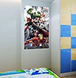 WOW INTERIORS DISNEY (OFFICIALLY LICENSED)-MARVEL ASSEMBLED AVENGERS IN ACTION KIDS WALL POSTER