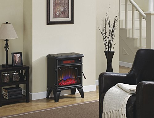Best Buy! Duraflame DFI-550-0 Mason Freestanding Electric Infrared Quartz Fireplace Stove, Black