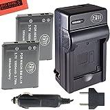 BM Premium (2 PACK) of EN-EL19, ENEL19 Battery & Charger Kit For Nikon Coolpix S32, S100, S3100, S3200, S3300, S3500, S3600, S4100, S4200, S4300, S5200, S5300, S6400, S6500, S6800 Digital Camera + More!!