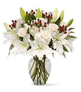 White Elegance Bouquet - With Vase