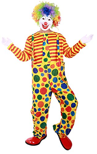 Ace Halloween Unisex Adult Funny Clown Costume