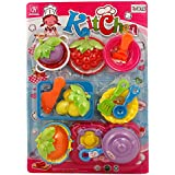 Rvold Colorful Kitchen Cooking Play Set With Fruits And Vegetables For Kids - Fun Cooking Set