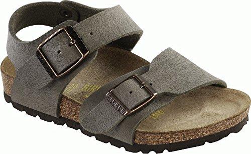 Birkenstock Unisex-Child New York Kids Stone Birkibuc Sandals 34.0 W Eu R 087801