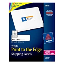 AVERY Laser Labels, Matte, Mailing, 3-3/4 x 1-1/4 Inches, 300 Per Pack (AVE6879)