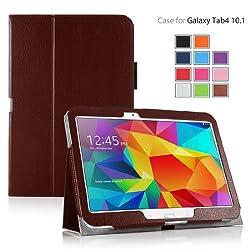 Elsse (TM) Premium Folio Case with Stand for Samsung Galaxy Tab 4 - 10.1