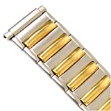 Watch Band Expansion Metal Mens Band Two Tone fits sizes 16mm to 21mm