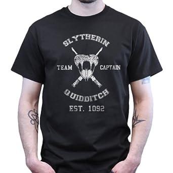 Slytherine Quidditch Harry Potter T shirt Black S
