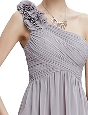 Ever Pretty Flower One Shoulder Long Bridesmaids Party Dress 08237