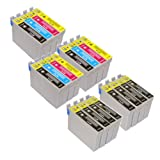 T 715 X 3 MULTIPACK + T 711 X 8 - EPSON COMPATIBLE Ink Cartridges for Epson Stylus Sx200 - Also Compatible With Epson D120, D78, D92, DX400, DX4000, DX4050, DX4400, DX4450, DX5000, DX5050, DX6000, DX6050, DX7000, DX7400, DX7450, DX8400, DX8450, DX9400F,