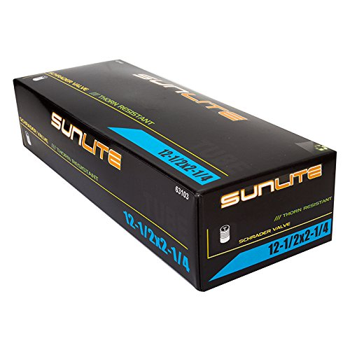 Sunlite Thorn Resistant Schrader Valve Tube, 12-1/2 x 2-1/4