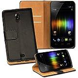 OneFlow PREMIUM - Book-Style Case im Portemonnaie Design mit Stand-Funktion - für Samsung Galaxy Nexus (i9250) - SCHWARZ