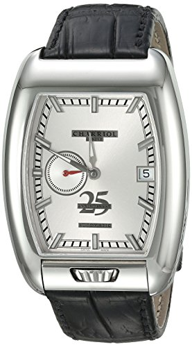 Charriol-Mens-MD52-Swiss-Automatic-Stainless-Steel-and-Leather-Dress-Watch-ColorBlack-Model-C25SS791006