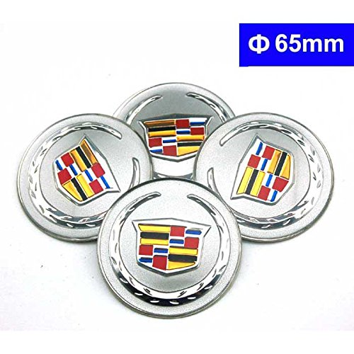 4pcs C083 65mm Car Styling Accessories Emblem Badge Sticker Wheel Hub Caps Centre Cover Cadillac ATS CTS EXT SRX XTS XLR (Cadillac Car Stickers compare prices)