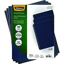 Fellowes Binding Linen Presentation Covers, Oversize Letter, Navy, 200 Pack (52113)