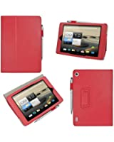 """[Bamboo] 7.9"""" Acer Iconia A1 A1-810 Smart Cover Étui Housse en PU Cuir Avec Support Fonctions Pour 7.9"""" Acer Iconia A1 A1-810 +Stylo,Rouge"""