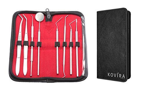 Professional 8 Pcs Dental Kit-Includes Tarter Plaque Scraper