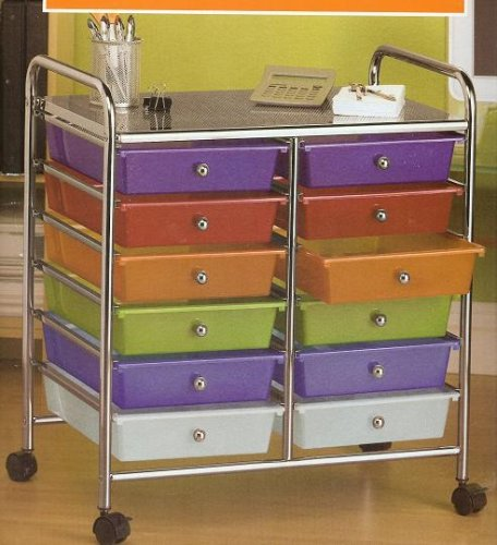 Buy 12 Drawer Rolling Storage Cart