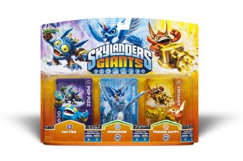 Skylanders Giants - Triple Pack #1 - Whirlwind - Trigger Happy - Pop Fizz - Universal)