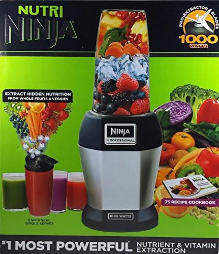 Find Discount Nutri NINJA BL455 Professional 1000 watts Personal Blender Bonus Set with 3-Sip & ...