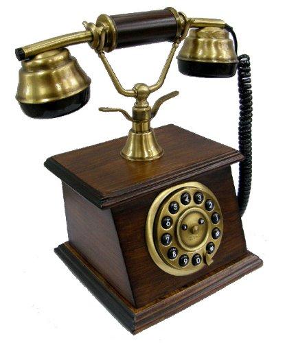 Sitel b20300t retro 39 telephone telefono fisso design vintage retro legno noce telefoni - Telefono fisso design ...