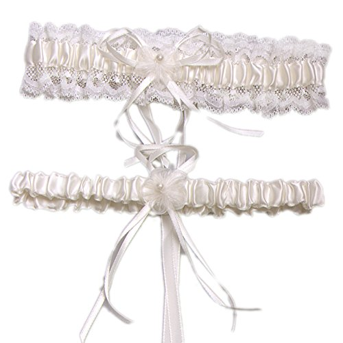 Aurora Bridal® Wedding Accessories Lace Garter for Bridal Ivory