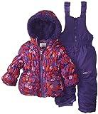 Big Chill Baby Girls' Multi Dot Snowsuit, Purple, 12 Months
