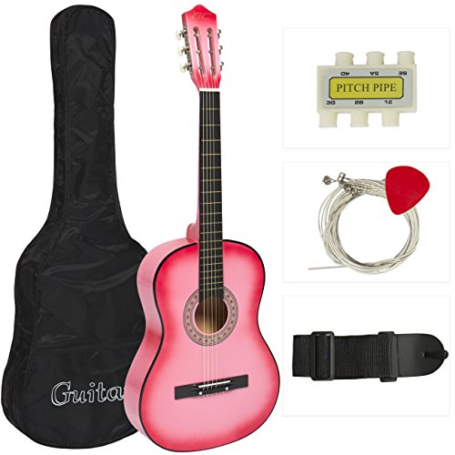 best-choice-products-beginners-acoustic-guitar-with-case-strap-tuner-and-pick-pink