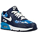 NIKE AIR MAX 90 PRINT GS 704956 400 Navy Leather Trainers UK 3 - 6