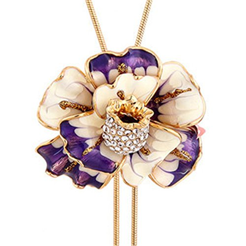 enamel-flower-long-chain-pendant-necklace-for-women-adjustable-length-37