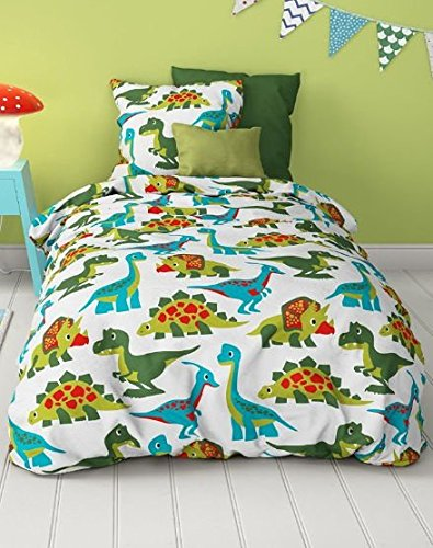 aminata kids s e bettw sche dinosaurier 100x135 jungen kinder bettw sche dino hochwertige. Black Bedroom Furniture Sets. Home Design Ideas