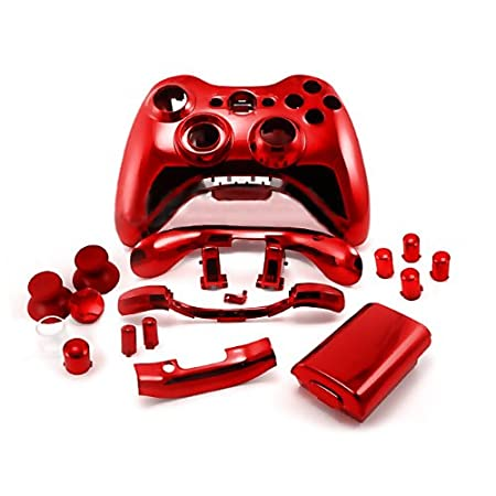 Xbox 360 Chrome Red Replacement Controller Shell