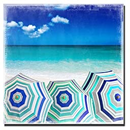 Beach Gathering by Charlie Carter Custom Gallery-Wrapped Canvas Giclee Art (Ready to Hang)