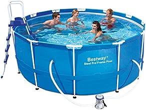 """Bestway 56088 Frame Pool """"Steel Pro"""" Set mit Filterpumpe + Zubehör 366 x 122cm"""