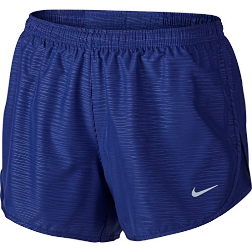 """Nike Women's 3"""" Tempo Modern Embossed Running Short Deep Royal Blue/Reflective Silver Shorts MD X 3"""