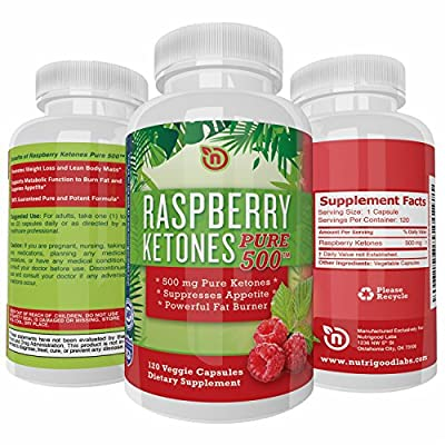 Pure Raspberry Ketones Weight Loss Supplement - Diet Pills that Work for Women and Men - Powerful All Natural Appetite Suppressant - Most Potent Raspberry Ketones 1000mg - 120 NON GMO Vegetarian Safe Capsules Designed by NutriGood Labs