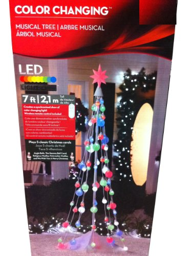 Gemmy 7ft. Color Changing Musical Lightshow Remote Control Christmas Tree  Reviews - Holiday Decor: Gemmy 7ft. Color Changing Musical Lightshow Remote