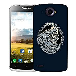 Snoogg Grey Wolf Roaring Designer Protective Back Case Cover For LENOVO S920