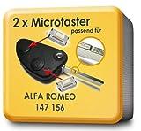 MICROTASTER SCHL�SSEL TASTER 3 ST�CK passend f�r ALFA ROMEO 147 156 (MP08)